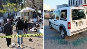 Aracına ateş eden oğlunu bacağından vurdu