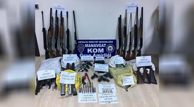 Manavgat'ta silah ticareti operasyonu
