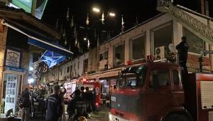 Antalya dönerciler çarşısında yangın