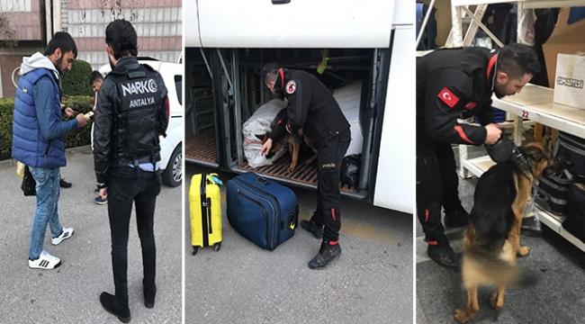 Otobüs terminalinde yasaklı madde yakalandı