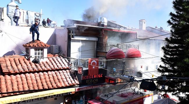 Restoranda yangın paniği