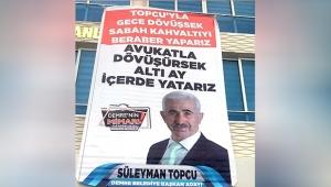 Seçim afişi tartışma çıkardı