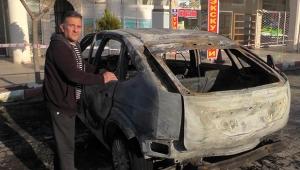 Yardım ettiği ihtiyaç sahibi arabasını yaktı