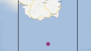 Akdeniz'de 3.9 büyüklüğünde deprem