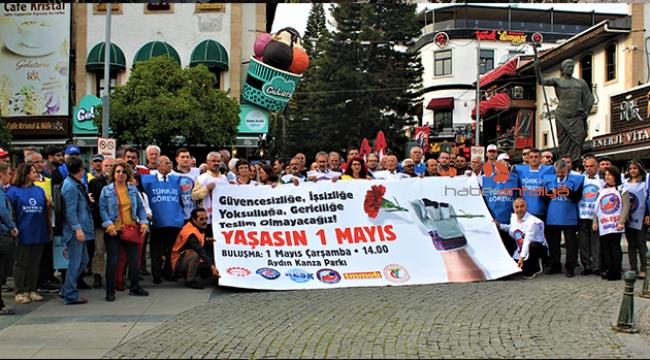 Antalyalılar, 'Büyük 1 Mayıs Mitingi ve Yürüyüşü'ne davet edildi