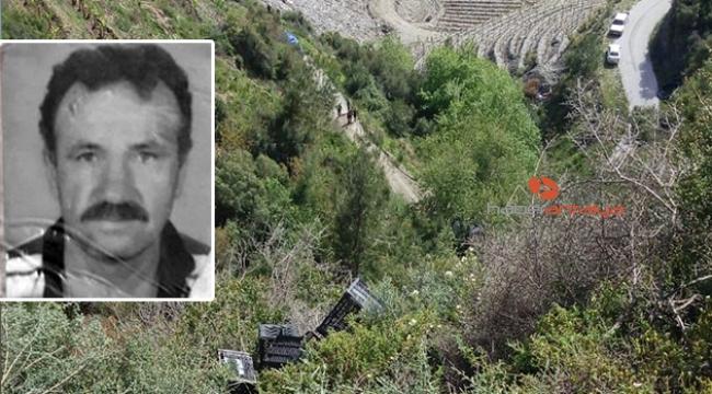 Aracıyla 200 metrelik uçurma yuvarlanan sürücü öldü