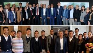 Başkan Uysal'a tebrik ziyaretleri