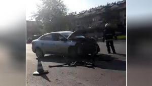 Manavgat'ta iki otomobil çarpıştı
