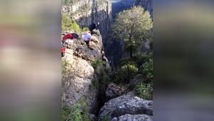 Tazı Kanyonu'ndan düştü