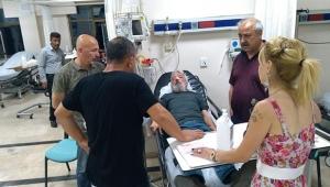 Antalya'da gazeteciye darp
