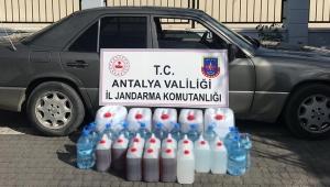 Antalya'da sahte içki operasyonu