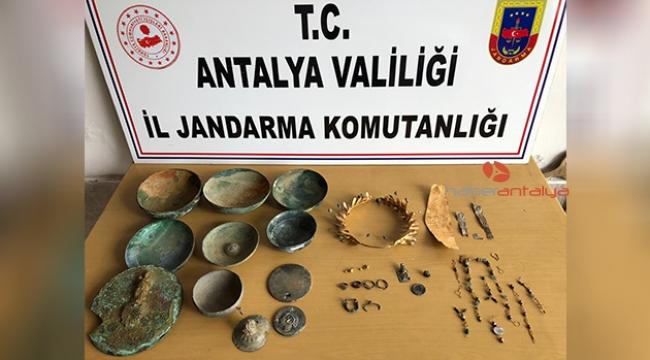 Antalya'da tarih eser operasyonu