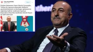 Dışişleri Bakanı Mevlüt Çavuşoğlu'na Japonya'dan Devlet Nişanı