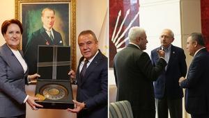 Muhittin Böcek CHP ve İYİ Parti Başkanlarını ziyaret etti
