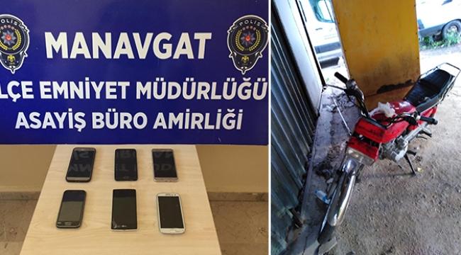 Polisleri görünce motosikleti bırakıp kaçtılar