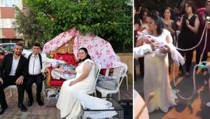 Sünnet düğününe solunum cihazlarıyla getirildi