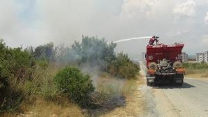 3 buçuk dönüm arazi yandı