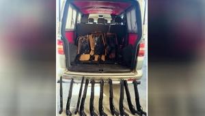 Antalya'da kaçak üretilmiş 54 adet tüfek ele geçirildi