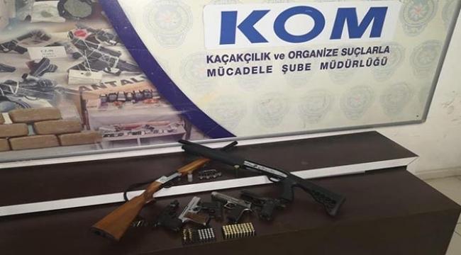 Antalya'da silah kaçakçılığı operasyonu