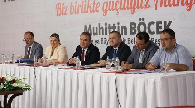 """Başkan Böcek """"Turizm birliği kuracağız"""""""