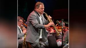"""Caz festivalinde """"Igor Butman ve Moskova Caz Orkestrası"""" sahne aldı"""