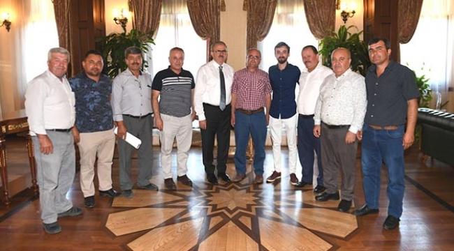 İmecikliler Derneği, Muhtarlık ve Şenlik Ağası, Vali Karaoğlu'nu ziyaret etti