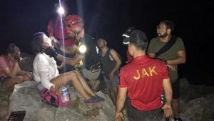 Kanyonda kaybolan öğretmenler, kurtarıldı