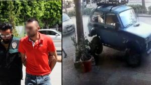 Kaldırıma çıktı, polis aracına çarptı, kaçtı !