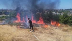 Kaymakamlık konutu önünde yangın