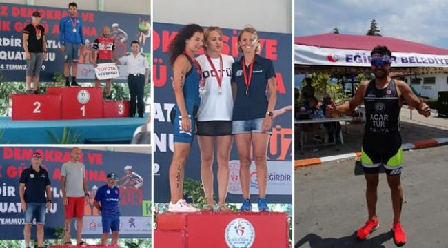 Triatlon takımından madalya