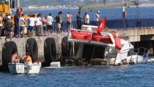 Batan yattaki yolcular ve mürettebat kurtarıldı