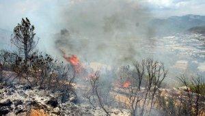 Gazipaşa'daki yangında 10 dekar makilik alan zarar gördü