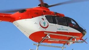 Prematüre doğan bebek için helikopter havalandı