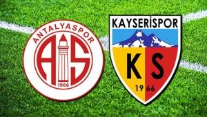 Antalyaspor: 2 - İstikbal Mobilya Kayserispor: 2
