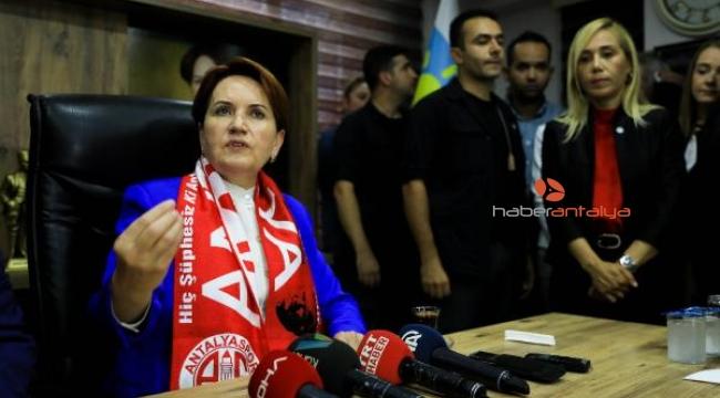 İYİ Parti Genel Başkanı Meral Akşener, Antalya'da