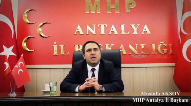 Mustafa Aksoy MHP il başkanlığından istifa etti.