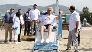 Alanya Belediyesi'nden Engelsiz Plaja örnek proje
