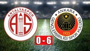 YIKILDIK Antalyaspor 0 - 6 Gençlerbirliği