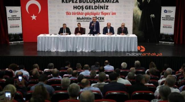 Başkan Böcek: Antalya halkının bize verdiği oyları helal ettireceğiz