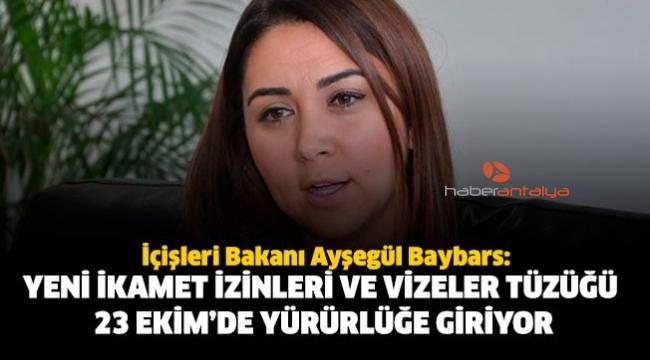 KKTC İçişleri BakanıAyşegül Baybars: