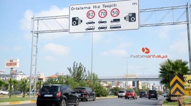 Antalya'da hız limitleri yükseltildi