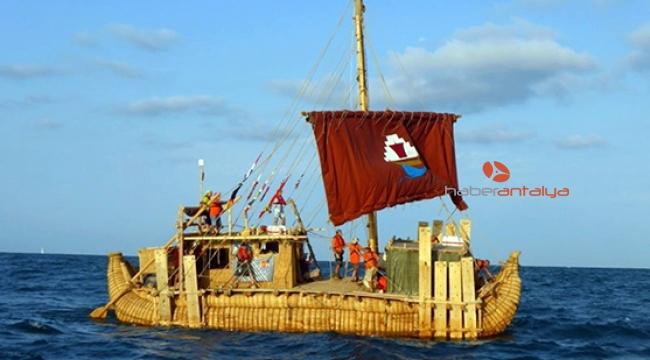 'Abora-IV' Patara Antik Limanı'na taşındı