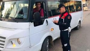 Jandarmadan servis araçları denetimi