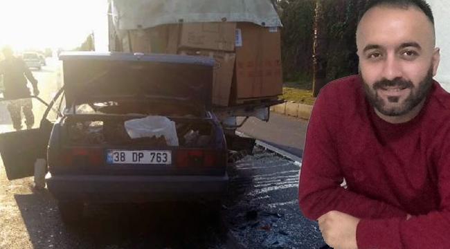 Kamyonete arkadan çarpan otomobilin sürücüsü öldü