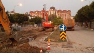 Manavgat'ta kanalizasyon hattı arızası giderildi
