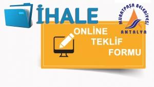 Muratpaşa Belediyesi'nden online ihale