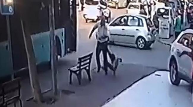 Otobüs şoförü aracına asılan patenli çocuğu , esnaf da onu dövdü