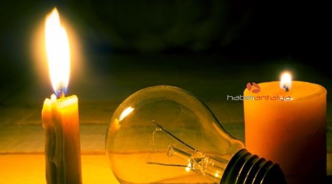 Antalya'da elektrik kesintisi