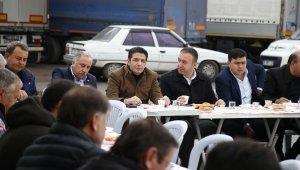 Başkan Genç, kamyoncu esnafıyla buluştu