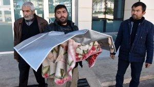Fakirlik böyle bir şey ..Minik kızının cenazesini battaniyeye sarıp, götürdü
